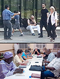 While the gospel <of Christ was being shared in many ways, (by sharing with people on the street and in concerts) others actively prayed for Francophones in the Verdun section of down town Montreal