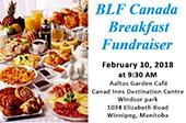 Invitation To Attend the 2/10/2018 BLF Canada Breakfast