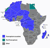 24 Francophone Countries of Africa