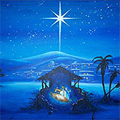 O holy night the stars are brightly shining; It is the night of our dear Savior - The Lord Jesus' birth!
