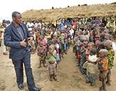 Pastor Jonas teaching the children