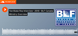 Link to an interview with Toe-Blake Roy, BLF Canada Director