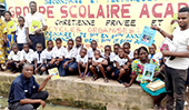 Christian school students in D.R. Congo